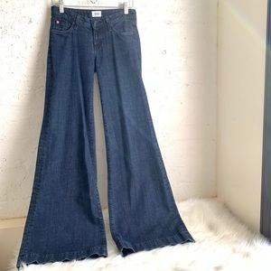 Hudson Jeans extreme flare wide leg jeans size 26